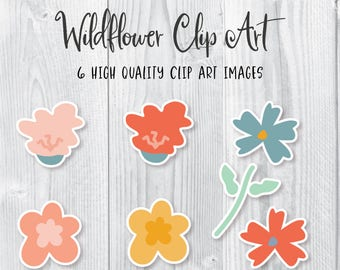 Hand Drawn Flower Clip art, Digital Doodle Flowers, Flower clip art, Floral clip art, Flower PNG, Digital Flowers, digital doodle