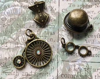 Bronze Victorian Era Charms- Lot of 4
