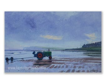 Redcar Beach - A beautiful North Yorkshire Coast painting by James McGairy - Limited edition mounted giclee print