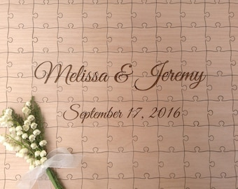 105 or 150 Piece Custom Wedding Guest Book Puzzle -Guest Book Alternative