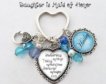 Maid of Honor gift - Daughter is Maid of Honor - from Bride to Daughter- From Mother to Daughter, maid of honor, matron of honor, bridesmaid