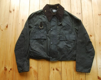 Vintage 90's Barbour Fly Fishing Short Waxed Spey Jacket Large A130
