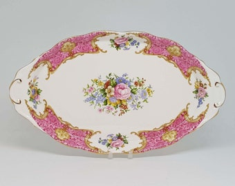 Beautiful Royal Albert Oval Dish - Lady Carlyle