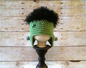 Frankenstein Hat, Frankenstein Monster Beanie, Frankenstein Classic Movie Monster Hat, Frankenstein Halloween Costume Hat