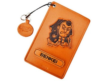 Kabuki/Benkei Leather Commuter Pass/Bus Pass/ID Card/Badge Holders *VANCA* Made in Japan #26632 6color variations Free Shipping