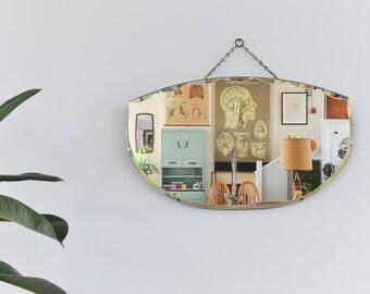 Vintage Frameless Bevelled Mirror
