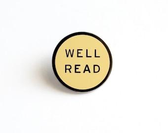 WELL READ enamel lapel pin
