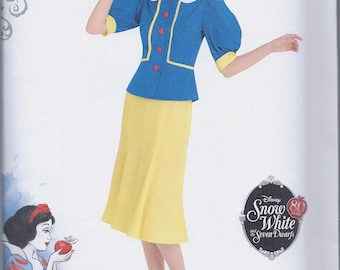 Simplicity 8486 Misses Snow White Cosplay Costume UNCUT Sewing Pattern