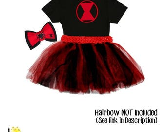 Black Widow Inspired Tutu set - Marvel Avengers Girl Super Hero Herione