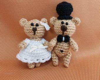 wedding cake topper bear crochet wedding bears couple cake topper unique cake topper bride and groom romantic cake topper tops for cakes