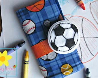 Crayon Caddy, Crayon Roll, Crayon Wallet, Crayon Holder, Crayon Roll Up, Crayon Keeper, Crayon Organizer, Crayon Tote, Soccer, Sports