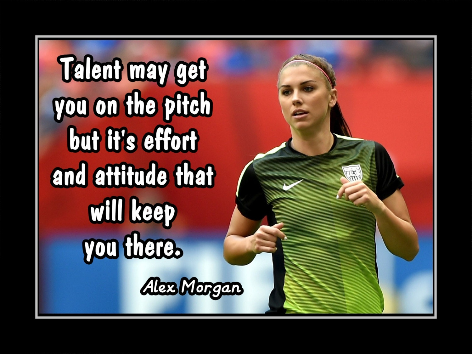 Soccer women inspirational poster girl motivation wall art zoom voltagebd
