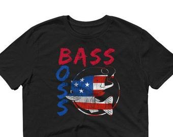 4th July Bass Boss Fishing T-Shirt