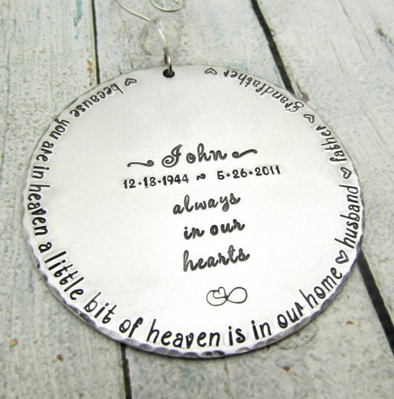 Items Similar To Memorial Ornament, Personalized Ornament