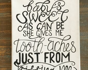 Hozier Work Song Lyric Hand Painted Canvas