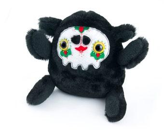 Black Sugar Skull Monster n2, soft art toy