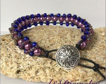 Fancy Purple Blue Bracelet