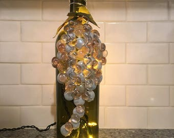 Grape Bunch Wine Bottle Light