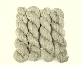 Hand Dyed Yarn, Fine Lace Weight 100% Pure Cashmere - Whisper - Semi Solid Cobweb Lace Yarn, Indie Dyed Laceweight Yarn, Silver Grey Gray