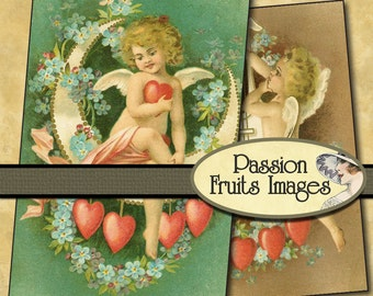 Chubby Cherubs  Digital Collage Sheet-- Instant Download