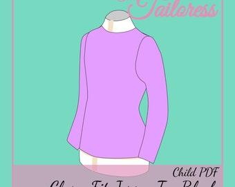 Age 9-10 Close Fit Bodice Block PDF Sewing Pattern BLock Pdf Sewing Patterns for Children Sloper Sewing Patterns Sewing Pattern Pdf Pattern