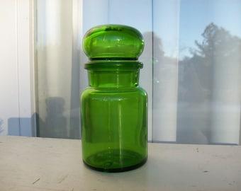 Vintage Green Apothecary Jar