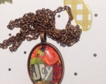 Joy Collage Pendant Necklace