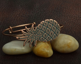 Expandable Pinapple Bracelet, Patina Finishe, sold by Each