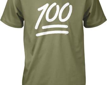 100 Emoji, Keep it 100 Men's T-shirt, NOFO_01158
