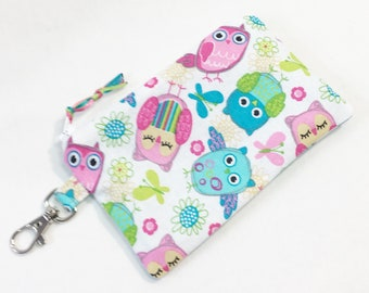 Adorable Owls Change Purse/Coin Pouch/Zippered Pouch by Allica Designs Free Shipping in the US