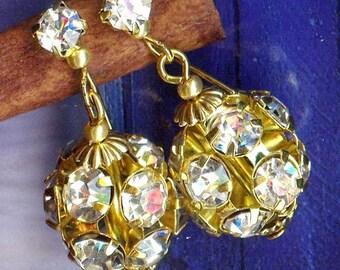Earrings ♔ FESTIVAL gold shiny LIGHTNESS ♔ OR743 ♔