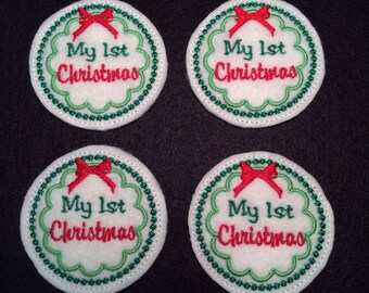 My First Christmas Embroidered Felt Applique