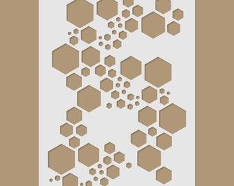 Super Hexagon Stencil