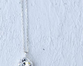 SALE Swarovski Crystal Sterling Silver Pendant Necklace