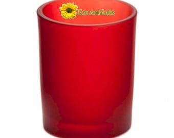 Red Frosted Votive Candle Holder