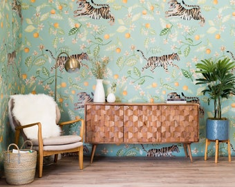 NEW Clementine Mural - Large Malayan Tigers Wallpaper
