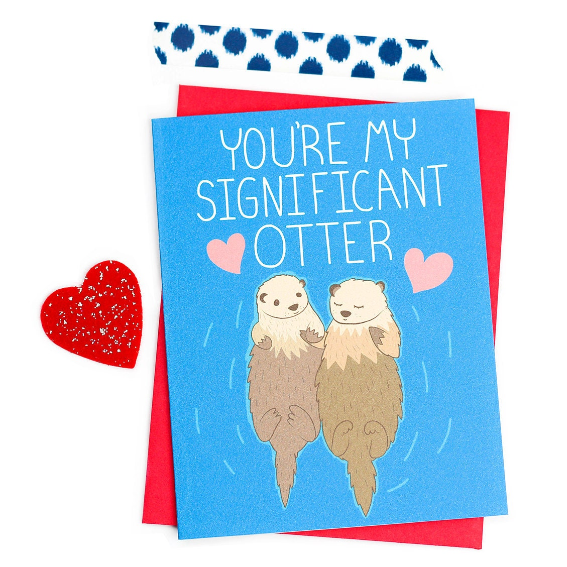 Funny anniversary card significant otter boyfriend card for zoom kristyandbryce Image collections