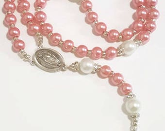 Our Lady of Guadalupe Pink Rosary
