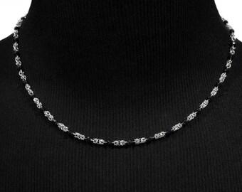 Little Noir Necklace | silverplated