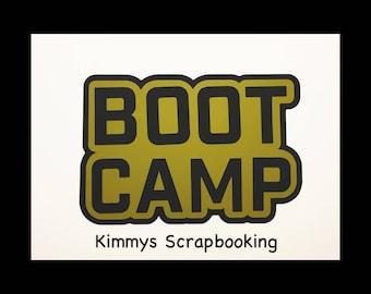 Boot camp Scrapbook Title Premade Paper Piecing