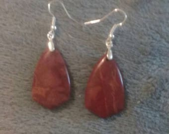 Picasso Jasper French Hook Earrings