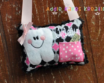 Personalized Tooth Fairy Pillow / Customize in Your Choice of Fabrics