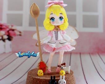 lovely4u 100% Handmade air dry clay figurine(sale)-Vanilla Only