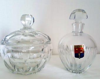 Vintage Baccarat Crystal Jar And Carafe