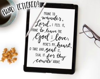 Hymn SVG, Come Thou Fount of Every Blessing, Prone To Wander, Silhouette SVG, Cricut SVG Cut File, Bible Verse Printable, Hymn Printable