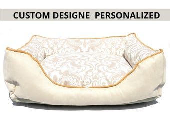 Custom Personalized Dog Bed/Custom cat bed/Choose your designe/Free embroidery name