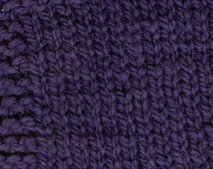 PLUM 3ply wool worsted weight kettle dyed yarn from our USA farm