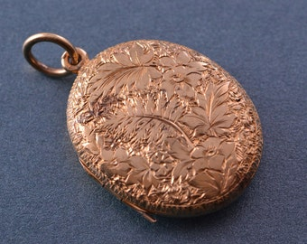 9ct Yellow Gold Victorian Opening Locket (933x3)
