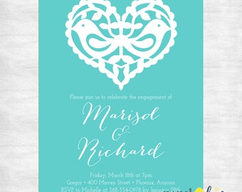 Engagement Party Invitations / Bridal Shower Invitations / Wedding Shower Invites / printable invitations / printed invitations