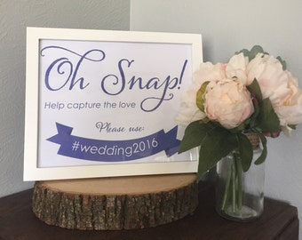 Instagram Wedding Sign - DOWNLOAD